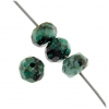 African Turquoise 6mm Rondelle (Flat Round) Facetted Approx 44pcs